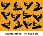 ski jet water sport motorcycles ...   Shutterstock .eps vector #91556558