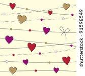 valentine day background | Shutterstock .eps vector #91598549
