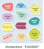 labels   colorful set | Shutterstock .eps vector #91633007