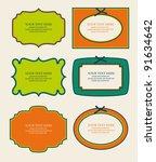 set of cute frames. vector... | Shutterstock .eps vector #91634642
