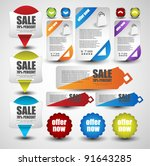 web elements collection | Shutterstock .eps vector #91643285