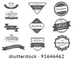 vintage styled premium quality... | Shutterstock .eps vector #91646462