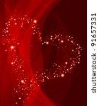 valentine red background | Shutterstock .eps vector #91657331