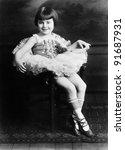 Portrait Of Little Girl In...