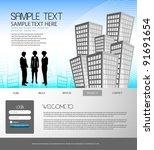 web design template | Shutterstock .eps vector #91691654