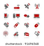 wireless communications icons   ... | Shutterstock .eps vector #91696568