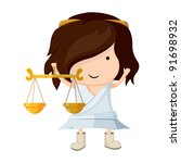 a girl dressed up like a sign... | Shutterstock .eps vector #91698932
