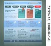 web site design template  vector   Shutterstock .eps vector #91703162