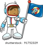 cute astronaut color cartoon... | Shutterstock .eps vector #91752329