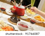Fondue bourguignonne - stock photo