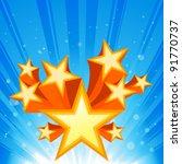abstract star burst background   Shutterstock .eps vector #91770737