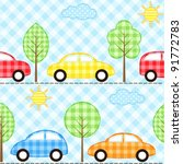seamless fabric background with ... | Shutterstock .eps vector #91772783