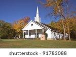 Small Church In Autumn