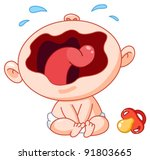 crying baby | Shutterstock .eps vector #91803665