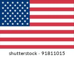 united states flag | Shutterstock .eps vector #91811015