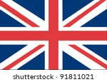 united kingdom flag | Shutterstock .eps vector #91811021