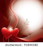valentines background. vector... | Shutterstock .eps vector #91844180