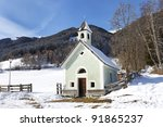 Antholz Obertal Church In Winter