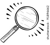 doodle style magnifying glass ... | Shutterstock .eps vector #91896662