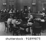 In Court - stock photo
