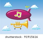 musical blimp | Shutterstock .eps vector #91915616