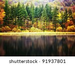 Stock photo coniston water lake district cumbria england uk 91937801