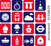 united kingdom's pictograms | Shutterstock .eps vector #91938629