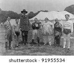 Circus folks - stock photo
