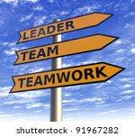 leader and teamwork | Shutterstock . vector #91967282