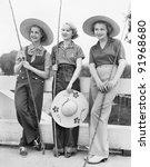 Three Women Going Fishing With...