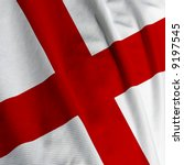 close up of the english flag ...