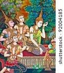 Buddhist Art Paint Style In...