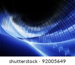 bright blue on black background | Shutterstock . vector #92005649