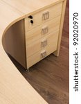 Wooden Desk With Drawers In A...