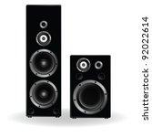 speaker two in black... | Shutterstock .eps vector #92022614