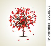 vector illustration of a love... | Shutterstock .eps vector #92030777