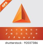 vector gps and navigation icon... | Shutterstock .eps vector #92037386