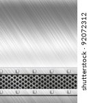 steel metal plate background | Shutterstock . vector #92072312