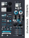 elements of infographics with... | Shutterstock .eps vector #92084696