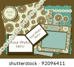 vintage photo frames  ... | Shutterstock .eps vector #92096411