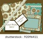 vintage photo frames  ... | Shutterstock .eps vector #92096411