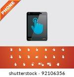 vector smartphone touchscreen... | Shutterstock .eps vector #92106356