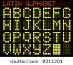 latin alphabet. indicator. a... | Shutterstock .eps vector #9211201
