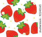 strawberries | Shutterstock .eps vector #92140165