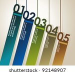 design template numbered... | Shutterstock .eps vector #92148907