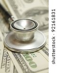 health care costs   stethoscope ... | Shutterstock . vector #92161831