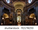 Church of St. Peter (Peterskirche), in Vienna, Austria - stock photo