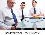 three businessman  one mature... | Shutterstock . vector #92183299