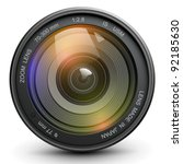 camera photo lens  vector. | Shutterstock .eps vector #92185630