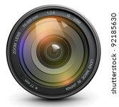 camera photo lens  vector. | Shutterstock .eps vector #92185630